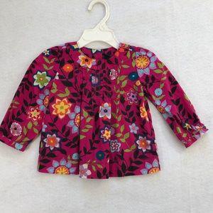 Baby Gap Girls Floral Long Sleeve Top 12-18 mo